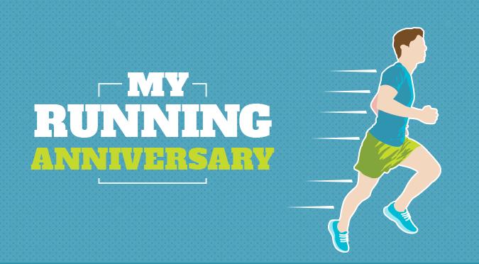 My running anniversary